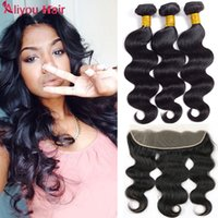 Wholesale Indian 32 Inch Wavy Weave - 8a Mink Brazillian Body Wave with Closure Unprocessed Brazilian peruvian indian Virgin Human Hair Wet And Wavy Brazilian Hair Weave Bundles