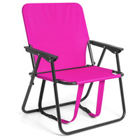 Wholesale 12 quot Height Seat Backpack Folding Chair Outdoor Beach Camping Pink
