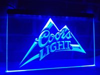 LA004b- Coors Light Bar Birra Pub Logo LED Neon Light Sign