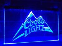 Wholesale Coors Neon Signs - LA004b- Coors Light Beer Bar Pub Logo LED Neon Light Sign