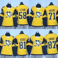 Wholesale Embroidery Ladies - Lady Hockey Jerseys Stadium Series Pittsburg 58 Kris Letang 71 Evgeni Malkin 81 Phil Kessel 87 Sidney Crosby Stitched Embroidery Jerseys