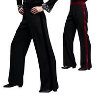 Wholesale Hot Latin Men - Hot Selling Men Latin Dance Pants Salsa Tango Modern Dancing Trousers Ballroom Dance Pants for Male UA0192
