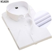 Commercio all'ingrosso - NCLAGEN 2017 Uomini Top Solid Qualty manica corta camicia manica corta design casual design Slim fit camisa maschile sociale no tasca