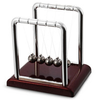 Wholesale Hot Wood Toy - New Design Hot Sale Early Fun Development Educational Desk Toy Gift Newtons Cradle Steel Balance Ball Physics Science Pendulum +B