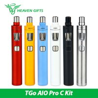 Wholesale Ego Started Kit - Joyetech eGo AIO Pro C Start Kit with 4 ml Atomizer All-in-one Style Powered by Single Replaceable 18650 Battery 100% Original