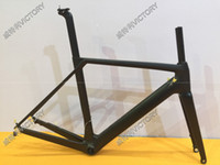 Wholesale Carbon Road Frame Disc Brakes - 2017 Newest Design T800 Disc Brake HQR27 Bike Frame Bicycle Frame+Fork+Seat Post+Clamp+Headset+BB Adapter Size XS S M L XL Available