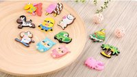 Wholesale furniture packages - DHL Cute animal Fridge Magnet colorful sticker for decoration fridge and furniture mix color 3.5cm