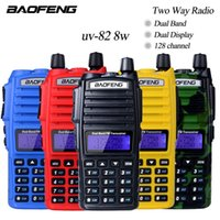 Wholesale High Power Ham Radios - 10Km Walkie Talkie Baofeng Uv-82 Real 8W Baofeng With High Mid Low Power UV 82 Ham Radio Station amateur Portable Radio