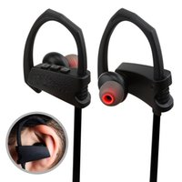 Wholesale Best Chinese Earbuds - Best Sport Bluetooth Headphone 4.1 Wireless Earbuds with Mic Sport Stereo Headset Noise Cancelling Neckband IPX5 Sweatproof