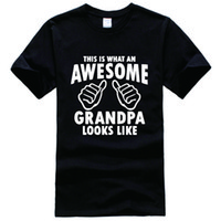 Wholesale Gifts For Grandpa - This Is What An Awesome Grandpa Looks Like - Gift For Grandpa Tee Shirt Unisex fashion shirt short sleeve, funny shirt