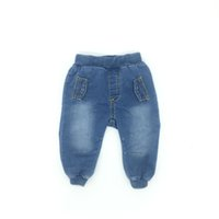 Wholesale Wholesale Good Jeans - Infant Clothes Boys Jeans Denim Fashion Solid Fake Pocket Good Quality 4M To 24M Baby Clothes