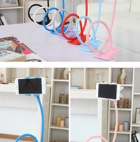 Wholesale Grass Green Bedding - Universal flexible holder Arm Lazy Mobile Phone Stand Holder Stents Flexible Bed Desk Table Clip Bracket For iphone for Samsung