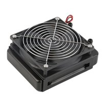 Wholesale Pc Cpu Fan - Wholesale- Newest 120mm Water Cooling CPU Cooler Row Heat Exchanger Radiator with Fan for PC Wholesale And Hot Sale