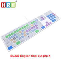 Wholesale Keyboard Skin Imac - HRH Final Cut Pro X Hotkeys Keyboard Cover Skin For Apple Keyboard with Numeric Keypad Wired USB for iMac G6 DesktopPC Wired