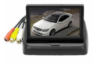 Wholesale Pal Definition - 4.3 inch car reversing folding rear view mirror 4.3 inch folding high-definition picture display 2 Input atp202