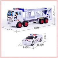 Wholesale Toy Car Transporter Truck - 2017 Mini Diecast Car Pull back Construction vehicle Transporter trailer Truck Model Classic Baby Kids Education Gift Model Toys