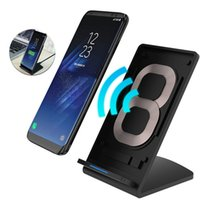 Nexo Galaxia Al Por Mayor Baratos-Venta al por mayor Qi Wireless Charger 5V2A Smart IC cargador inalámbrico rápido para Samsung Galaxy S8 más S7 S6 S6 borde Nexus 7 USB Charg