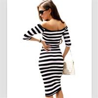 ingrosso abito di fasciatura più le donne di formato-Fasciatura Abito Donna Sexy Al Ginocchio Lunghezza Donna Aderente Abbigliamento Abbigliamento Abiti Vestido De Plus Grande Large Size 5XL Abito Femme