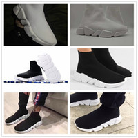 Wholesale Cotton Stretched Canvas - 2017 Speed sock high quality Speed Trainer running shoes for men and women sports shoes Speed stretch-knit Mid sneakers ,size Eur 36-44