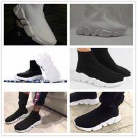 calcetines zapatos al por mayor-Calcetines Speed Trainer de alta calidad 2018 calcetines de alta velocidad para hombres y mujeres Calcetines deportivos de media altura de punto stretch, tamaño Eur 36-45