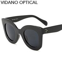 ingrosso vetri ottici grande design-Vidano Optical Cat Eye Occhiali da sole Hot Popular Eyewear Classic Cateye Occhiali da sole Fashion Designer Big Brand Gradient UV400