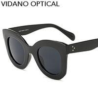 Wholesale Designer Cateye Eyewear - Vidano Optical Cat Eye Women Sunglasses Hot Popular Eyewear Classic Cateye Sun Glasses Fashion Designer Big Brand Gradient UV400