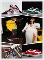 Wholesale Striped Shoes Women - REVENGE x STORM size36-44 Kanye Low-Top & High-Top Adult Women Men's Canvas Shoes Skateboarding Shoes Casual Shoes Sneaker Size:36-45