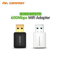 Wholesale usb ap - Wholesale- comfas 600Mbps usb Wi-fi Network LAN Card 802.11ac 5G WiFi Adapter Dongle & soft AP router CF-915AC USB wi fi Wireless Adaptor