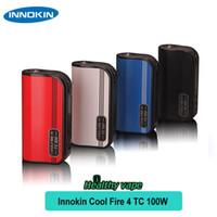 Wholesale Cool Vape Batteries - Original Innokin Cool Fire IV TC 100W Vape Mod Battery 3300mAh TEMP control Mod E Cig