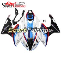 Wholesale fairings for bmw motorcycles resale online - Injection White Red Blue Fairings For BMW S1000RR ABS Plastic Motorcycle Fairing Kit Panels