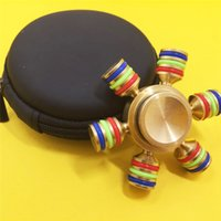 ingrosso grande impara-Torqbar Brass EDC Hand Spinner 6 Spins Luminoso Fidget Handspinner FAI DA TE ADHD Austim Learning Decompression Toy Regali
