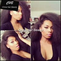 Wholesale Long Human Braiding Hair - crochet braids kinky straight Human Hair Full Lace Wig with Bangs Front Lace Human Hair Wigs for Black Women