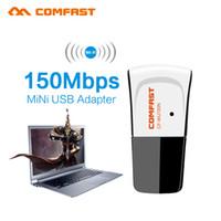 adaptador wifi usb ralink al por mayor-Al por mayor- 10pcs Comfast 150M USB WiFi Adaptador de LAN inalámbrica Antena Raspberry Pi Ralink RT5370 Mini Usb Wifi MAG250 IPTV TV caja de la ventana 10