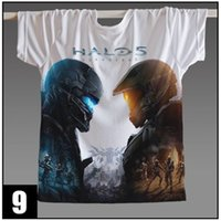 Wholesale Halo Master - Wholesale- Game Halo UNSC T Shirt Halo Master Chief 3D Printed Men Women t-shirt anime Wars Game t shirts Wholesale Custom Tshirt