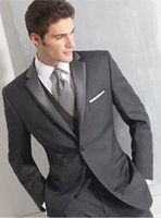 Wholesale Wool Shawl For Wedding Dress - 2015 Two Buttons Side Seam For Incision Lapel The Groom's Best Man Suit Wedding Dress Wedding Suit (Jacket + Pants + Vest)
