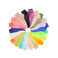 Wholesale Pink Sheer Girl Lady - Wholesale- Hot Candy Color Transparent Summer Socks Women Thin Fishnet Breathable Socks Lace Ankle Sheer Girl Ladies Nylon Pink Black Socks