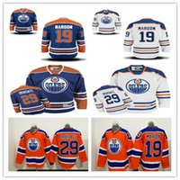 29 Leon Draisaitl Jerseys Hóquei Edmonton Oilers Man 19 Patrick Maroon Jersey Laranja Alternate Blue White Stitched Cheap Good Quality