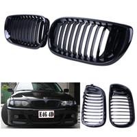 Wholesale For BMW E46 LCI i i i xi After facelift Gloss Black Kidney Grill Front Grille P192