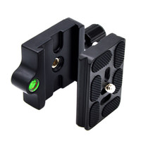 Wholesale quick release plate adapter - Wholesale- QR Quick Release Clamp Plate with 1 4 - 3 8' Screw Adapter for Tripod Head
