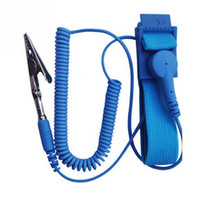 Wholesale Esd Straps - Wholesale- Cordless Wireless Clip Antistatic Anti Static ESD Wristband Wrist Strap Discharge Cables For Electrician IC PLCC worker