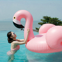 Giant Inflável Flamingo Swan Unicórnio Grande Piscina Beach Float Pink Ride-On Natação Ring Raft Adultos Crianças Crianças Water Holiday Party Toys