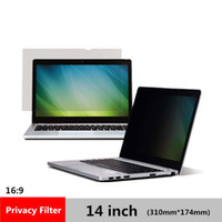 "Wholesale Film Filter - 14 inch Privacy Filter Anti spy Screens protective film for 16:9 Laptop 12 3 16 ""wide x 6 7 8 "" high (310mm*174mm)"