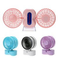Wholesale Usb Controlled Motor - 2 Motors Summer Couples Cooling Fan Portable Mini USB Fan Rechargeable Air Conditioner Home Office USB Gadgets