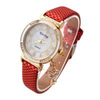Wholesale Heart Watch Key - Ladies fashion leisure Korean quartz watch wholesale diamond key pendant