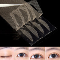 Wholesale double side adhesive eyelid tape - Wholesale-120pcs set Eyelid Stickers Double Eyelid Tapes Narrow Double Side Adhesive Technical Breathable Cosmetic Accessories