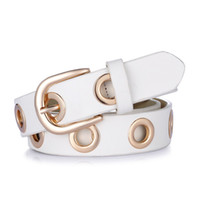 Wholesale Needle Grommet - 2017 fashion Belts for Women Grommet Duo euramerican style designer pu Leather strap for ladies jeans accessories