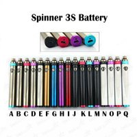 Wholesale Vapen Spin Battery - Spinner 3S Battery 1600mah Variable Voltage USB Passthrough ESAM-T Battery Vapen Spin III Twist 3.3-4.8V 510 Thread Spin Battery E Cigs