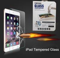Wholesale Plastic Flim - Tablet Screen Protector Flim for ipad 2 3 4 Air Air 2 Mini Mini 2 Mini 3 Mini 4 Tempered Glass with Plastic Box
