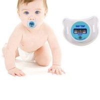 Wholesale Baby Digital Thermometer Soother - Wholesale- Utility Digital Dummy Soother Baby Toddler Child Oral Thermometer Portable Baby TEMP