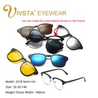 Wholesale Rectangle Magnets - IVSTA 2017 Magnet Sunglasses Clip Magnetic Mirrored Clip on sunglasses Men Flip Polarized Myopia Custom Prescription Optical 2208